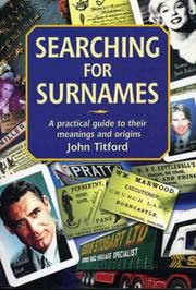 Cover of: Searching For Surnames