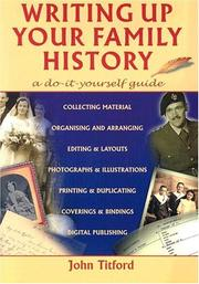 Cover of: Writing Up Your Family History