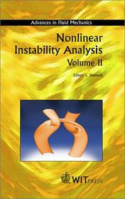 Cover of: Nonlinear Instability Analysis Volume II |