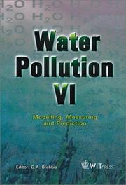 Cover of: Water Pollution VI | C. A. Brebbia