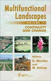 Cover of: Multifunctional Landscapes - Volume III  |
