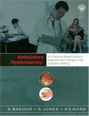Cover of: Ambulatory Hysteroscopy | S. H. Bakour