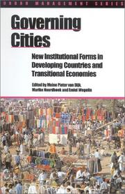 Cover of: Governing cities |