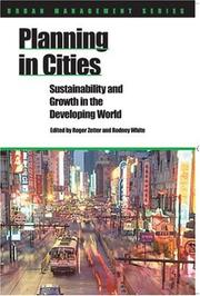Cover of: Planning in cities