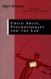 Cover of: Child abuse, psychotherapy and the law