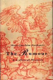 Cover of: The Rumour