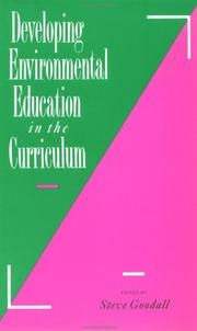 Cover of: Developing environmental education in the curriculum |