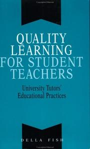 Cover of: Quality learning for student teachers |