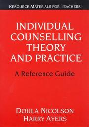 Cover of: Individual counselling theory and practice