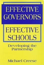 Cover of: Effective governors, effective schools