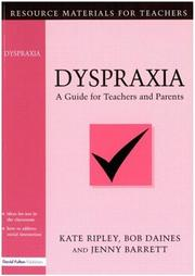 Cover of: Dyspraxia