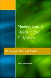 Cover of: Meeting Special Needs in the Early Years | Wolfendale