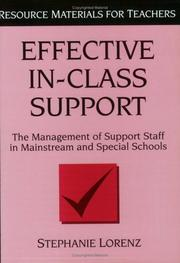 Cover of: Effective in-class support | Stephanie Lorenz