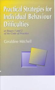 Cover of: Practical strategies for individual behaviour difficulties at stages 1 and 2 of the Code of practice