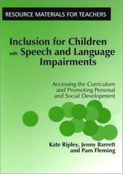 Cover of: Inclusion for Children with Speech and Language Impairments