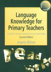 Cover of: Language Knowledge for Primary Teachers | Angela Wilson