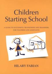 Cover of: Children Starting School