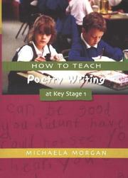 Cover of: How to Teach Poetry Writing at Key Stage 1