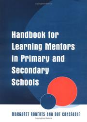 Cover of: Handbook for Learning Mentors in Primary and Secondary Schools | Margare Roberts