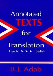 Annotated texts for translation by B. J. Adab
