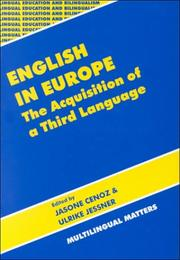 Cover of: English in Europe |