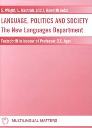 Cover of: Language, politics, and society |