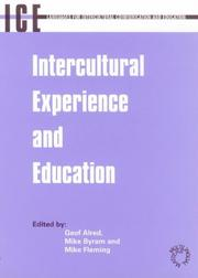 Cover of: Intercultural experience and education |