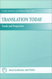Cover of: Translation today |