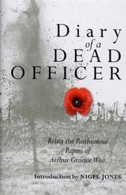 Cover of: The Diary of a Dead Officer | Arthur Graeme West