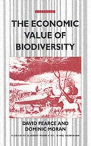 Cover of: The economic value of biodiversity
