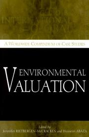 Cover of: Environmental valuation by