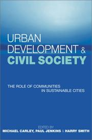 Cover of: Urban Development and Civil Society |