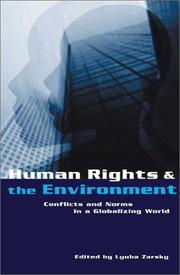Cover of: Human Rights and the Environment | Lyuba Zarsky