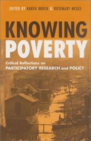 Cover of: Knowing Poverty |