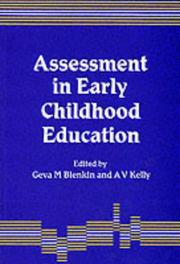 Cover of: Assessment in early childhood education |