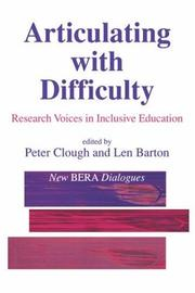 Cover of: Articulating with Difficulty |