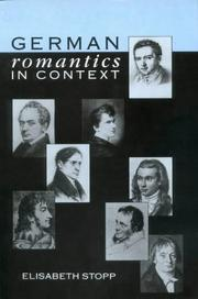 Cover of: German romantics in context