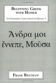 Cover of: Beginning Greek With Homer | Frank J. Beetham