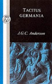 Cover of: Tacitus | J.G.C. Anderson