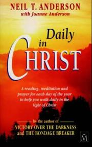 Cover of: Daily in Christ: a devotional