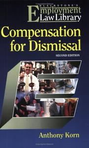 Cover of: Compensation for Dismissal (Employment Law Library) | Anthony Korn