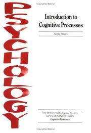 Cover of: Introduction to Cognitive Processes (Open Learning Units for Psychology in Schools & Colleges: Cognitive)