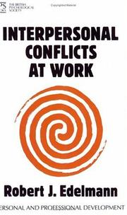 Cover of: Interpersonal Conflicts at Work (Personal & Professional Development)