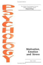 Cover of: Motivation, Emotion and Stress (Open Learning Units)