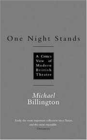 Cover of: One night stands | Michael Billington