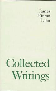 Cover of: Collected writings