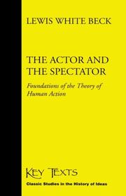 Cover of: The actor and the spectator