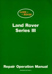 Cover of: Land Rover Series 3 WSM (Workshop Manual Land Rover) | Brooklands Books Ltd