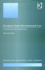 Cover of: European Union environmental law | Peter G.G Davies