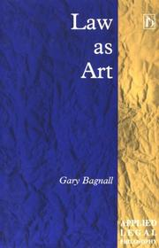 Cover of: Law as art